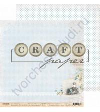 Бумага для скрапбукинга двусторонняя, коллекция Наш сынок, 30.5х30.5 см, 190 гр\м2, лист Простые радости