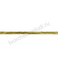 Лента декоративная 6 мм, цвет золото