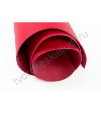 Кожзам переплетный на полиуретановой основе плотность 300 гр/м2, 35х50 см, цвет 1-красный