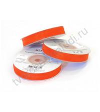 Лента декоративная капроновая 10 мм, неоновый оранжевый, 1м