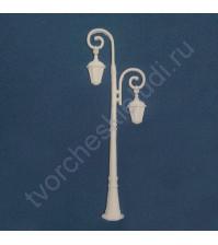 Фигурка из пластика Фонарь, 12.5х4.5 см, цвет белый