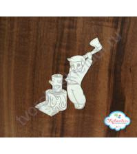 Чипборд с гравировкой Дровосек, 5.5х6 см