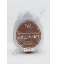 Подушечка чернильная пигментная капля Brilliance, размер 32х50, цвет перламутровый шоколад