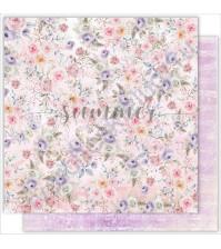 Бумага для скрапбукинга двусторонняя 30.5х30.5 см, 190 гр/м, коллекция Tender sentiment, лист Magic flowers