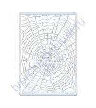 Трафарет-маска Паутинка, 11.5х16.5 см, пластиковый