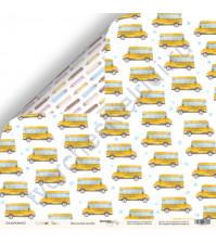 Бумага для скрапбукинга двусторонняя 30.5х30.5 см, 190 гр/м, коллекция School Days, лист Школьный автобус