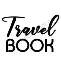Декор из термотрансферной пленки, надпись Travel BOOK, 8.6х5.4 см, цвет в ассортименте