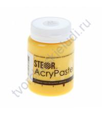 Краска акриловая пастельная AcryPastel на водной основе, флакон 20 мл, цвет пастельный желтый