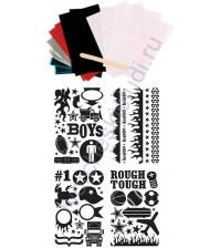 Набор для фольгирования и флокирования Boy, 10х15 см