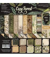 Набор двусторонней бумаги Cozy Forest, 30.5х30.5 см, 200 гр/м, 10 листов (ENG)