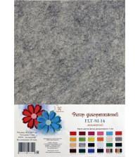 Лист фетра 21х29.7см, 1 мм, цвет мраморный