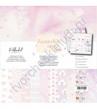 Набор односторонней бумаги Хлопковые сны-2, 20х20 см, 190 гр/м, 7 листов+БОНУС