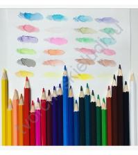 Набор акварельных шестигранных карандашей, 24 цвета