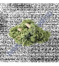 Шебби-лента мятая, весенние травы, ширина 14 мм, 1 метр