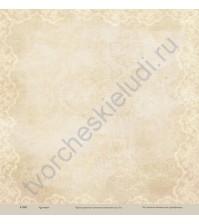 Бумага для скрапбукинга односторонняя коллекция Кулинарное искусство, 30.5х30.5 см, 190 гр/м, лист Кружевная скатерть