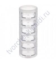 Накручивающиеся баночки, диаметр 40 мм, 6 элементов