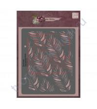 Трафарет многоразовый пластиковый Пальмовая ветвь, коллекция die Villa, толщина 0.5 мм, 15х17 см