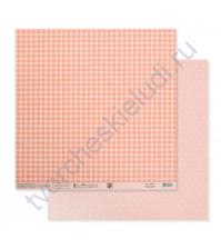 Бумага для скрапбукинга двусторонняя Базовая 30.5х30.5 см, 180 гр/м2, лист Персиковый