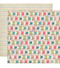 Бумага для скрапбукинга двусторонняя коллекция Sew Lovely Collection, 30.5х30.5 см, 180 гр/м, лист Spool