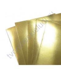 Картон дизайнерский односторонний металлизированный Sadipal 225 гр, формат 20х30 см, цвет золото