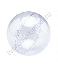 Шар прозрачный пластиковый разъемный, диаметр 10 см
