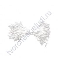 Тычинки двусторонние 1.5 мм, 85 шт, цвет белый