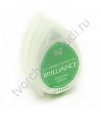 Подушечка чернильная пигментная капля Brilliance, размер 32х50, цвет насыщенный зеленый