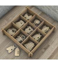 Декоративные элементы из дерева Детский-4, 9 элементов