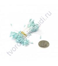 Тычинки двусторонние с глиттером, 80 шт, цвет бирюза