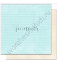 Бумага для скрапбукинга двусторонняя 30.5х30.5 см, 190 гр/м, коллекция Vanilla dreams, лист Words