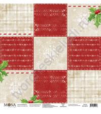 Бумага для скрапбукинга односторонняя Зимняя сказка, 30.5х30.5 см, 190 гр/м, лист Ночь перед Рождеством