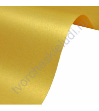 Лист гладкой дизайнерской бумаги Majestic 120 гр, формат А4, цвет Золотая лихорадка
