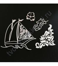 Набор чипборда Корабль, коллекция Лагуна, размер 7.5х10 см