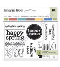 Набор штампов Easter, 11 элементов, размер набора 9х13 см