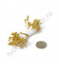 Тычинки двусторонние с глиттером, 80 шт, цвет золото