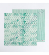 Кардсток с рисунком Мятный, 30.5х30.5 см, 270 гр/м2