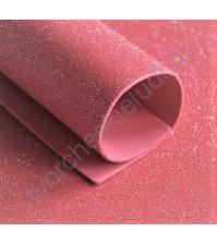 Фоамиран с глиттером, 1.8 мм, формат А4, цвет арбузный блеск