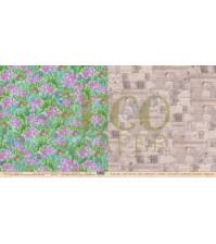 Бумага для скрапбукинга двусторонняя 30.5х30.5 см, 250 гр/м, коллекция Тропикана, лист Лотосы