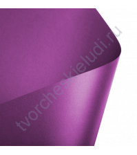 Лист гладкой дизайнерской бумаги с эффектом металлик Cocktail 290 гр, формат 30х30, цвет лиловый