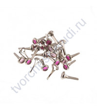 Набор брадсов 6х8 мм, 24 шт, цвет розовый микс