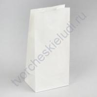 Пакет из крафт-бумаги, плотность 65 гр/м2, размер 12х8х25 см, цвет белый