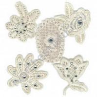 Набор кружевных украшений Embroidered Flowers, 5 элементов