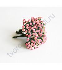 Бутоны роз маленькие 5 шт, цвет желтый с розовый