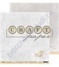 Бумага для скрапбукинга двусторонняя 30.5х30.5 см, 190 гр/м, коллекция Зимний ангел, лист Волшебный сон