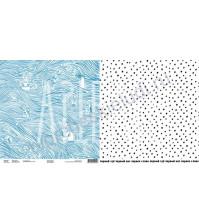 Бумага для скрапбукинга двусторонняя, коллекция Страна МО, 30х30 см, плотность 190 гр, лист Морской бой