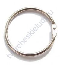 Кольца для альбомов, 2 шт., цвет серебро, 75 мм