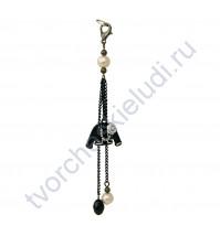 Кисточка-брелок для корешка Бизнес-леди, длина 13 см, 1 шт