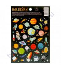 Набор декоративных наклеек Космическое путешествие, размер 11х16 см
