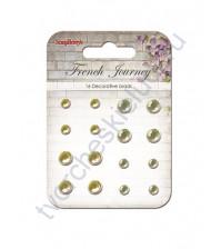 Набор хрустальных брадсов 16 шт, Французское путешествие, желто-зеленый