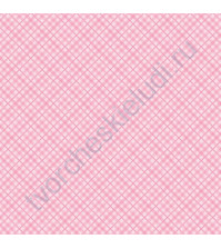 Кардсток односторонний текстурированный Клетка, 30.5х30.5 см, 216 гр/м, цвет нежный розовый